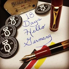 18 Days till Fountain Pen Day 2015. Hello Germany! #fountainpenday