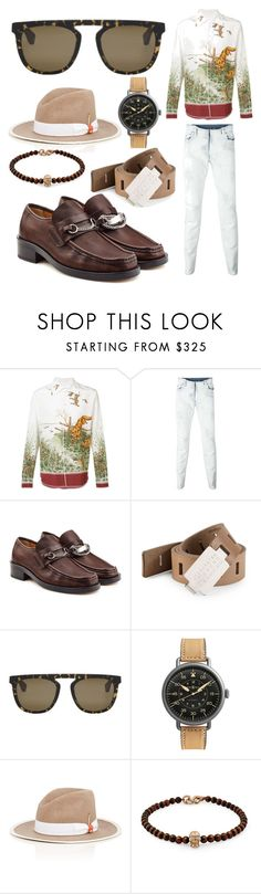 """casual wear"" by seniorswayout ❤ liked on Polyvore featuring Maison Margiela, Bell & Ross, Nick Fouquet, Snake Bones, men's fashion and menswear"