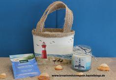 Strandtasche mit Leuchtturm, Stampin up, die Gezeiten