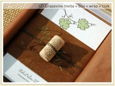 Cute wine invitation idea!