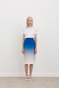 Gary Bigeni SS14-15 | Agem ombre pencil skirt