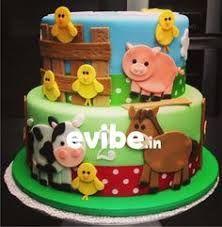 Resultado de imagem para bolo tema fazendinha menino