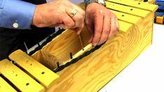 Repairing a broken xylophone pin