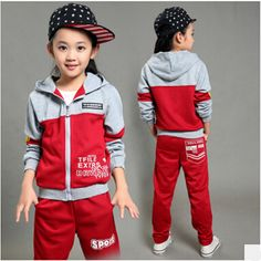 Girls Sport Suits 2017 New Style Autumn Spring Children's Tracksuits for Boys Long Sleeve Coat Pant Two-piece Kids Clothing Set Toddler Outfits, Baby Boy Outfits, Kids Outfits, Cute Kids Fashion, Baby Boy Fashion, Boys Tracksuits, Vogue Kids, School Uniform Outfits, Stylish Little Girls