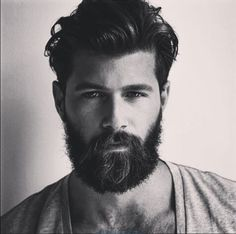 I want to rub my face against this beard.