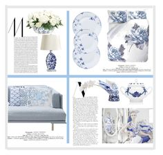 """blue elegance"" by chimechn ❤ liked on Polyvore featuring interior, interiors, interior design, home, home decor, interior decorating, Ralph Lauren, Richard Ginori, Royal Copenhagen and NDI"