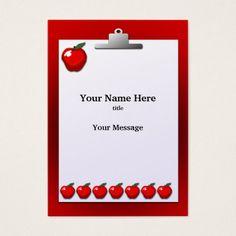 business card template teacher business by elfsworkshopdesign