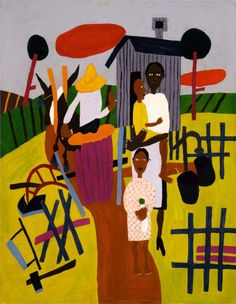 Farm Family - William H. Johnson William H Johnson, Henry Johnson, African American Artist, American Artists, Farm Family, Black Artists, Outsider Art, Renaissance Art, Poses