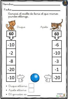 Generador de fichas de matemáticas: - Ordenar números: de mayor a ...