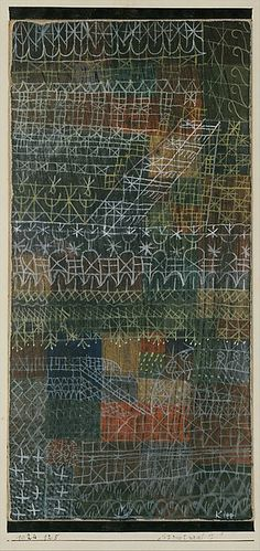 Paul Klee (1879-1940), Structural I, 1924 (125). Gouache on cardboard, bordered with ink, mounted on cardboard. 42.5cm H x 27cm W. (The Metropolitan Museum of Art, New York)