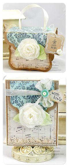 Con notecard Amor y caja de regalo