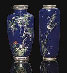 TWO CLOISONNE VASES, MEIJI PERIOD (1868-1912)www.Christies.com