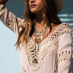 This is one of my favorite tops - loose weave , so comfortable and Boho inspired