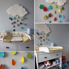 BABY RAINBOW | o quarto do seu bebê pode ter um charme feito por você: basta alguns retalhos coloridos de feltro e fio de nylon!  #babyroom #quartodebebê #decoração #dicaTecnisa #façavocêmesmo #Tecnisa