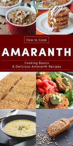 Basic instructions for how to cook amaranth on the stove, in the slow cooker, or in the pressure cooker, plus some fun amaranth recipes to try!