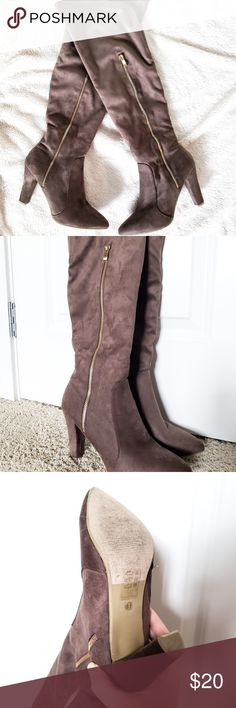 a8c797e7d1 Fashion Nova Faux suede knee high boots Faux suede knee high boots from Fashion  Nova.