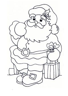 Santa - Christmas Coloring Pages Angel Coloring Pages, Santa Coloring Pages, Printable Adult Coloring Pages, Disney Coloring Pages, Christmas Coloring Pages, Coloring Books, Christmas Colors, Christmas Art, Christmas Themes
