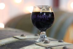 "Sampling Prairie Artisan Ales' delectable barrel-aged imperial stout ""Prairie Bomb!"" in their new brewery during their gra..."