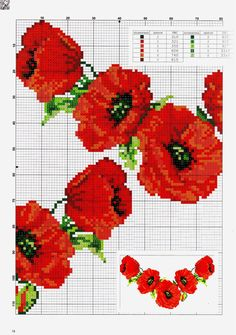 This Pin was discovered by Zdz Cross Stitch Rose, Cross Stitch Flowers, Cross Stitch Charts, Cross Stitch Patterns, Beaded Embroidery, Cross Stitch Embroidery, Hand Embroidery, Embroidery Designs, Cross Stitch Landscape
