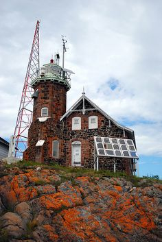 Passage Island Lighthouse off the NE tip of Isle Royale by TCeMedia/Telecide