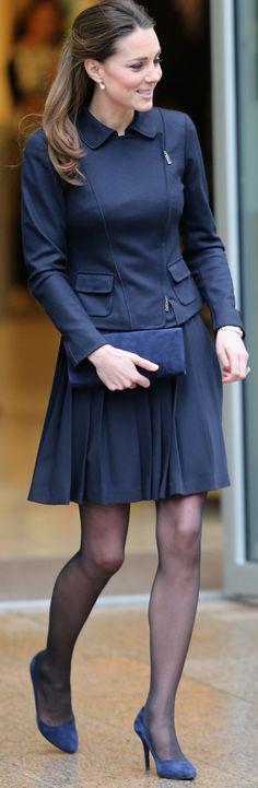 The Duchess of Cambridge - Max Mara Jacket, Orla Kiely skirt