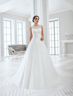 View Dress - Sans Pareil Bridal Collection: 995 - Scintillating illusion bodice…
