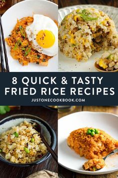 From chicken fried rice to shrimp fried rice to kimchi fried rice, these tasty recipes are exactly what you need for easy weeknight dinners. #friedrice #easyricerecipes #weeknightmeals | Easy Japanese Recipes at JustOneCookbook.com Easy Japanese Recipes, Easy Rice Recipes, Asian Recipes, Wok Recipes, Chinese Recipes, Chinese Food, Easy Weeknight Dinners, Easy Healthy Dinners, Healthy Dinner Recipes