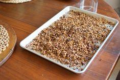 Maple walnut granola..for my love, the man loves homemade granola
