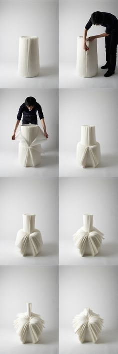 Cabbage chair by Nendo, Japan: Chairs Paper, Japan, Art Design, Design Art… Theme Design, Art Design, Japan Design, Funky Furniture, Furniture Design, Room Interior, Interior Design Living Room, Design Creation, Ideias Diy