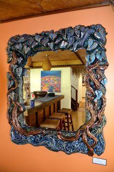 Eden - mirror by Rowena Fanali from Landsborough Galleries