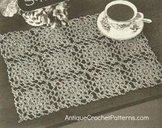 Crochet Home Decor Pattern - Motif Luncheon Set
