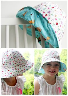 kids free sun hat pattern and downloadable PDF!
