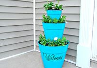 How to make a stacked pot planter ^