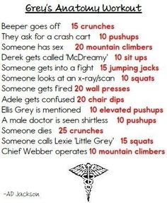 Grey's Anatomy | 43 Workouts That Allow You To Watch An Ungodly Amount Of Television
