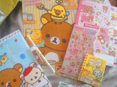 Kawaii Rilakkuma stationary, stickers, pens, etc. .