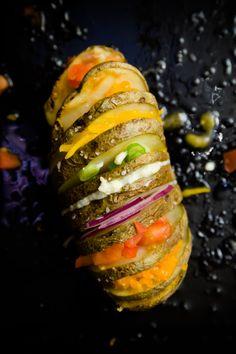 Rainbow Hasselback Potatoes