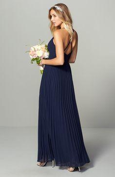 Dark Blue Bridesmaid Dresses