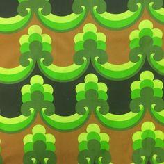 groen bruin patroon retro