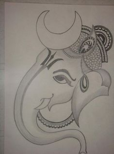 Explore collection of Easy Ganesh Drawing Pencil Drawing Pictures, Easy Pencil Drawings, Art Drawings Sketches Simple, Sketch Drawing, Drawing Ideas, Pencil Drawing Inspiration, Ganesha Drawing, Lord Ganesha Paintings, Ganesha Art