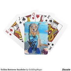 Golden Retriever Snorkeler Card Deck