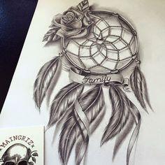 family dreamcatcher tattoo design - Tattoo ideen - Tattoo Designs For Women Dream Catcher Sketch, Dream Catcher Tattoo Design, Dream Catcher Art, Family Tattoo Designs, Family Tattoos, Cute Tattoos, Body Art Tattoos, Amazing Tattoos, Tatoos