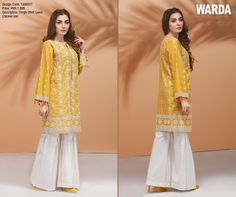 a8ec7131d Eid Wear Long Shirts With Tights For Young Girls By Fahad Hussayn ...