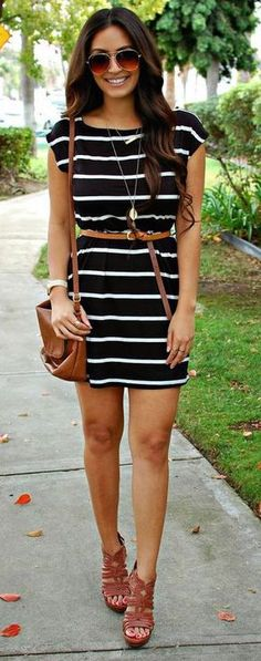Love the dress and belt! Together the waist is more defined and it makes the dress less casual but still great for any occasion.