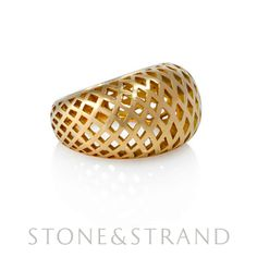 Domed Ring by Ray Griffiths, available exclusively at www.stoneandstrand.com