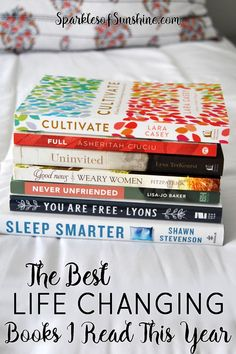 Want to make some changes in the upcoming year? Find out the best life changing books I read this year by visiting Sparkles of Sunshine today.