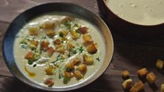 This smooth, creamy soup is a soothing and luxurious winter dish that can easily be jazzed up for guests.