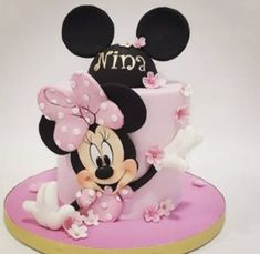 Minnie Mouse Cake, Disney Characters, Mini Mouse Cake, Disney Face Characters