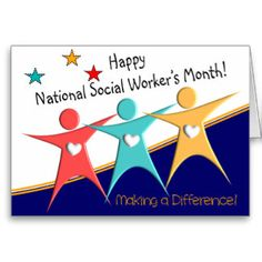 Social Worker Appreciation Month Clip Art | Happy Social Worker's Month Cards