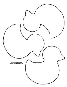 Duck Pattern Outlines large