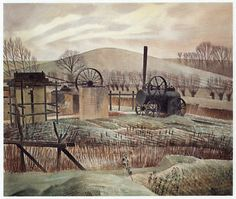 The Brickyard by Eric Ravilious 1936 ( Sible Hedingham, Essex. The Brickyard by Er Watercolor Landscape, Landscape Art, Landscape Paintings, Brick Yard, Landscaping Retaining Walls, As Time Goes By, Best Artist, Countryside, England
